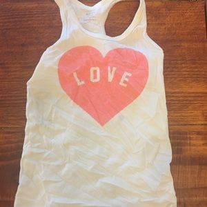 Girls tank top size 6 fitted